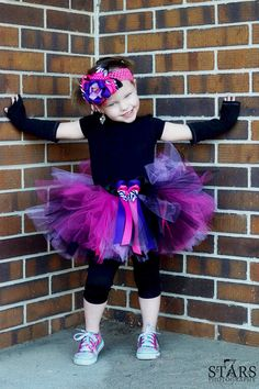 Punk Cutie Tutu Set   Ribbons N' Royalty by RufflesRibbonsNBows, $33.95