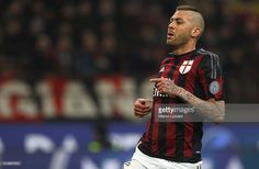 Jeremy Menez of AC Milan looks on during the TIM Cup match between AC Milan and US Alessandria at Stadio Giuseppe Meazza on March 1, 2016 in Milan, Italy.