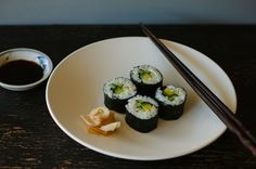 How to Make Vegetarian Sushi: http://food52.com/blog/10300-how-to-make-vegetarian-sushi-at-home #Food52
