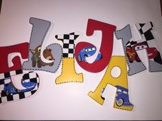 Disney Cars wooden letters by paintInsidethelines on Etsy https://www.etsy.com/listing/206546230/disney-cars-wooden-letters