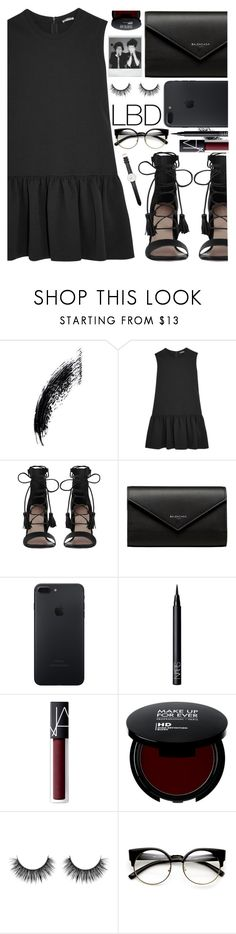 """LBD"" by lina-horan69 ❤ liked on Polyvore featuring Miu Miu, Zimmermann, Balenciaga, NARS Cosmetics, Polaroid, ZeroUV and Daniel Wellington"