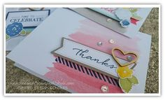 Watercolor Wishes card kit from stampin' up! simply beautiful cards together in a flash!