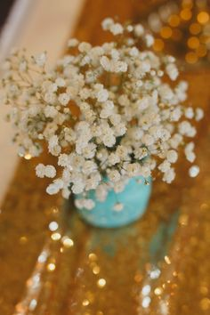 Professional and affordable event and wedding decorating services in Surrey, British Columbia Wedding Centerpieces, Wedding Decorations, Blue Mason Jars, Babies Breath, Tiffany Blue, Wedding Events, Bloom, Simple, Wedding Decor