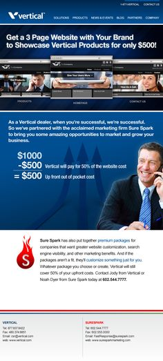 Custom designed E-Blast for a company that provides business communication solutions nationwide.