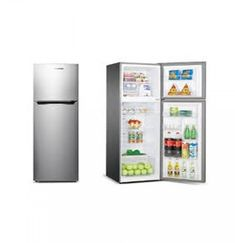 Small Storage, Storage Shelves, Storage Spaces, Double Door Refrigerator, Tempered Glass Shelves, Refrigerators, Galvanized Metal, Storage Compartments, Bottle Holders