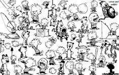 calvin hobbes art | Calvin and Hobbes Blend by Nessamy