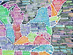 Paula Scher 的美国大数据手绘地图
