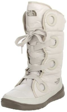 awesum winter boots-the north face destiny down boots in shiny moonlight ivory/classic khaki:) Snow Boots, Winter Boots, Warm Boots, Ugg Boots, The North Face, Winter Wear, Me Too Shoes, Combat Boots, Winter Fashion