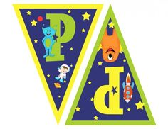 catch_my_party_outerspace_Pennant_Banner_PP