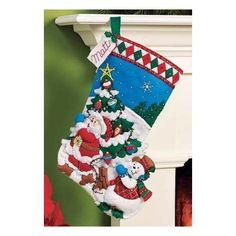 Bucilla Original Bota Navideña Pick A Tree Navidad
