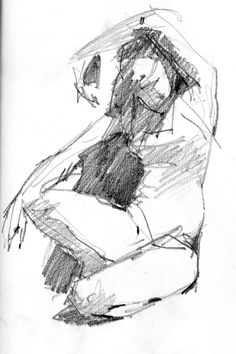 """Anatomy Drawing Male Four-minute gesture drawing, figure sketch, - At 4 am Mike shakes me awake: """"Something's wrong with the cat"""". A banshee wail comes from the living room. I call her name as though summoning a spirit. Her shape speeds past me … Human Figure Drawing, Figure Sketching, Figure Drawing Reference, Life Drawing, Drawing Sketches, Pencil Drawings, Art Drawings, Pose Reference, Figure Drawings"""
