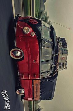 red and black double cab ☮ #VWBus #volkswagen bus pinned by  http://www.wfpblogs.com/author/thomas/