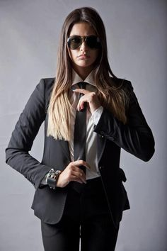 Ready for business! Diana Moldovan, Irina Lazareanu, Catrinel Menghia, Model Rock, Military Chic, Susan Sontag, Gender Bender, Androgynous Fashion, Suits You