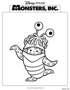 Monsters inc color page disney coloring pages color plate
