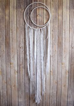 Large Dreamcatcher  White Dream Catcher  Wall by VagaBoundPeople