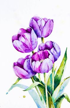 Spring flowers on Behance Watercolor Pictures, Watercolor Print, Watercolor Flowers, Watercolor Paintings, Spring Flowers Wallpaper, Flower Wallpaper, Doodles Sharpie, Op Art, Realistic Flower Drawing