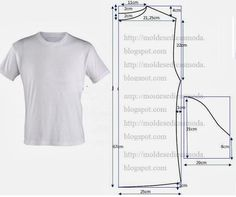 Mens t-shirt pattern Sewing Patterns Free, Clothing Patterns, Dress Patterns, Free Pattern, Sewing Ideas, Pattern Sewing, Mens Shirt Pattern, Sewing Men, Sewing Blouses