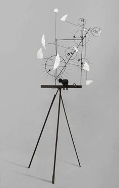 """""""Metamechanical Sculpture With Tripod"""", 1954 - JEAN TINGUELY"""