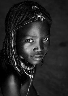 Mucawana tribe girl, Namibia