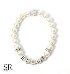 Brautschmuck armband perlen Brautschmuck - Braut Schmuck Perlen Rückenkette Anker Perle ...