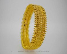 22K Gold Traditional Bangles from Karpagam Jewellers, Gold Traditional Bangle Designs.