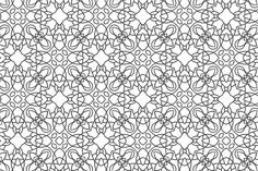 Seamless pattern for coloring book by @Graphicsauthor