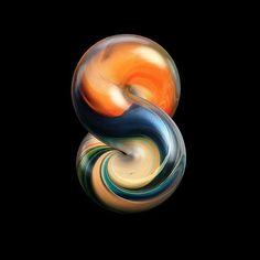 "427 Me gusta, 12 comentarios - RIK OOSTENBROEK (@rikoostenbroek) en Instagram: ""Experimental 8 #36daysoftype #36days_8 #thedesigntip #designspiration #3d #cgi #8 #marbles…"""