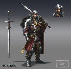 Heavy knight concept by ARTOFJUSTAMAN on DeviantArt
