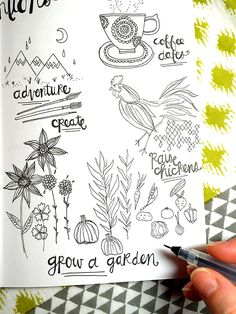 alisaburke: creating with mary: sketching your new year intentions
