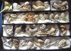 antique figural clay pipes
