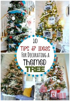 10 Tips & Ideas for Decorating a Themed Christmas Tree! Love these tree theme ideas!