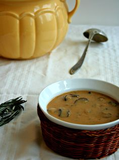 Magic Mushroom Soup and Gravy - Dairy, egg, Nut (if you substitute the almond milk), Gluten Free.