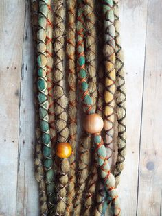 10 Custom Dreads Hair Wraps & Beads Bohemian Hippie Dreadlocks Tribal Falls Synthetic Boho Extensions Hair Accessories