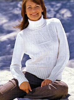 пуловер со снежинками