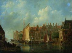 Frans Jacobus van den Blijk (1806-1876), Stadsgezicht te Dordrecht, doek, Dordrechts Museum, inv.nr. DM/009/912 Maar is dit wel Dordt? Zo ja, waar precies?