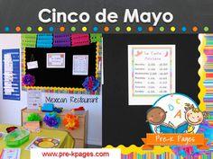 Cinco de mayo activities and ideas for the preschool, pre-k, and kindergarten classroom.