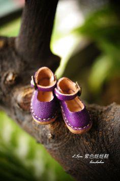 2.5公分紫色娃娃鞋