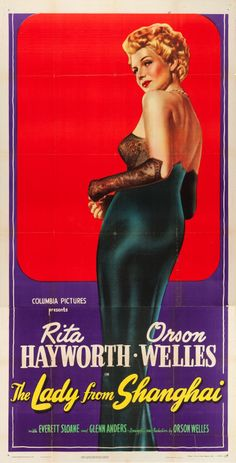 "Movie Posters:Film Noir, The Lady from Shanghai (Columbia, 1947). Three Sheet (41"" X 80"")..... Image #1"