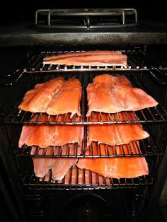 How to Smoke Rainbow Trout, Brine Recipe and Fish Preparation tips. Trout Recipes, Salmon Recipes, Seafood Recipes, Game Recipes, Grill Recipes, Smoked Trout, Smoked Fish, Smoked Salmon, Smoke Cheese Recipe