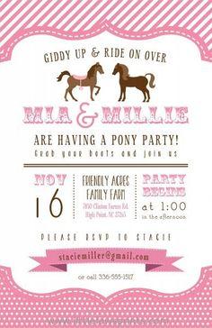 70d65cab7de9400e3a77678cc2fb9b35 cowgirl birthday rd birthday barbie pony tale birthday party invitation you print digital,Cowgirl Party Invitations