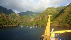 Sunsetting as we are anchored in the Bay of Virgins. #Aranui #Marquesas #adventure