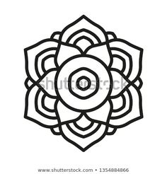Simple Mandala Shape for Coloring. Vector Mandala. Floral. Flower. Oriental. Book Page. Outline. Easy Mandala Drawing, Simple Mandala, Dot Art Painting, Folk Embroidery, Mandala Coloring Pages, Celtic Symbols, Stencil Designs, Zentangles, Painted Rocks