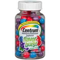 Centrum Flavor Burst Adult Chews Mixed Fruit 120 Count Pack of 3  Centrumg5 * Click image for more details.