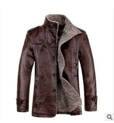 Winter Leather Coat