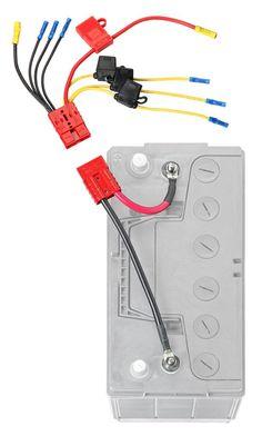 12 Volt Trolling Motor Plug Set 10 Gauge Connector Marine Minn Kota Minnkota RV
