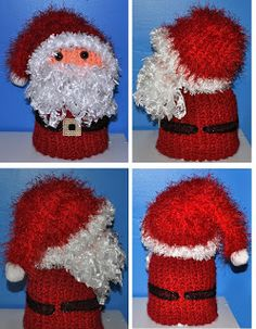 My Little Spot of Sanity: Loomed Santa Toilet Paper Cover