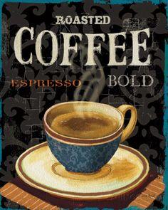 Today's Coffee IV by Lisa Audit / Coffee Art / Coffee Shop Stuff Coffee Iv, Coffee Menu, Coffee And Books, I Love Coffee, Coffee Cafe, Coffee Shop, Coffee Lovers, Coffee Corner, Iced Coffee