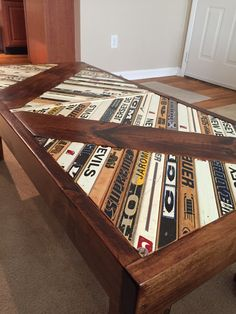 This buyer has played hockey his whole life. Instead of throwing away all his old sticks and those memories, he allowed Rustik Rehab to re purpose the sticks into this one of a kind hockey stick table with matching end table! Do you have a hobby that you are passionate about and want to create your own piece? Visit our site today!