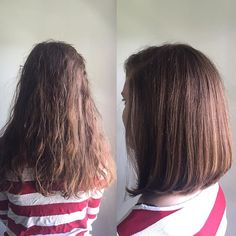 Before & After   It's not always easy to let go of your hair but I promise…