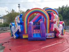 Big Water Slides, Castle Unicorn, Water Park Rides, Indoor Play Places, Bounce House Parties, Happy Magic, Inflatable Bounce House, Kids Indoor Playground, Bouncy House